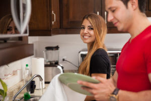 Funny marriage advice. Husband doing house chores