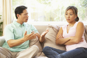 Couple arguing. Unhealthy relationship. How to fix a bad relationship