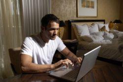 husband watching pornography